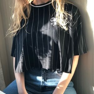 a jersey styled crop top